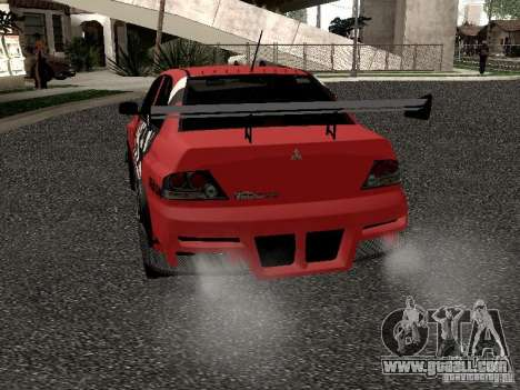 Mitsubishi Lancer Evo 8 for GTA San Andreas right view