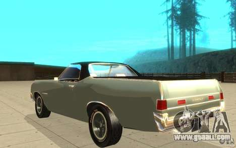 Chevrolet El Camino 1972 for GTA San Andreas back left view