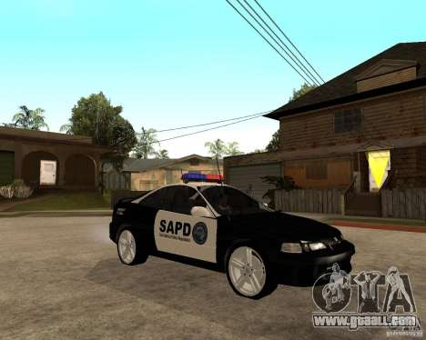 Honda Integra 1996 SA POLICE for GTA San Andreas back view
