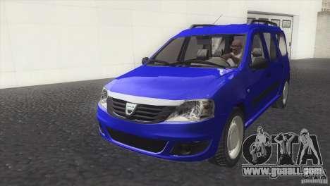 Dacia Logan MCV Facelift for GTA San Andreas right view