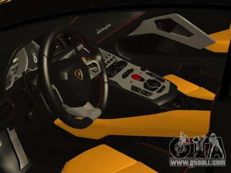 Lamborghini Aventador LP700-4 Vossen for GTA San Andreas inner view