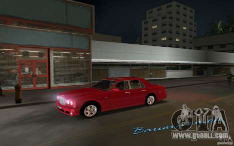 Bentley Arnage T 2005 for GTA Vice City left view