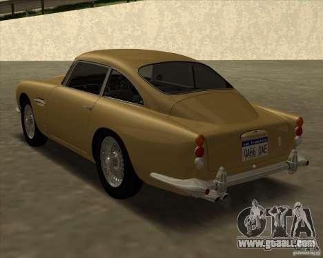 Aston Martin DB5 Vantage 1965 for GTA San Andreas left view