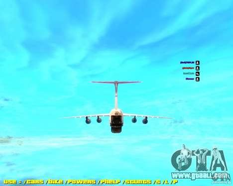 Lockheed C5-M Super Galaxy for GTA San Andreas back left view