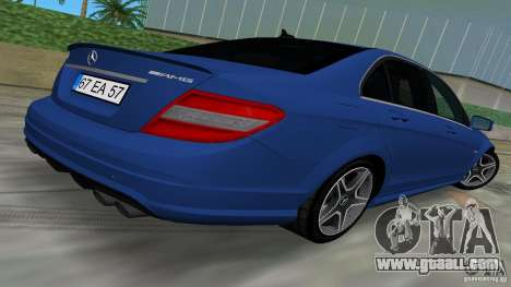 Mercedes-Benz C63 AMG 2010 for GTA Vice City inner view