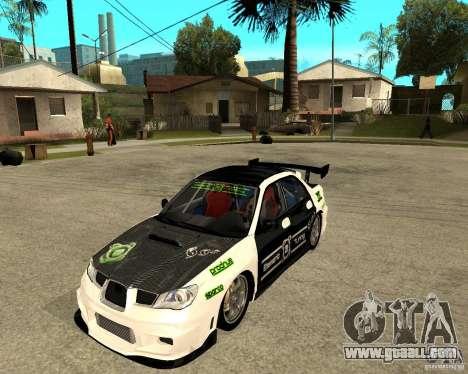 Subaru Impreza Elemental Attack for GTA San Andreas