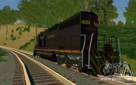 Clinchfield sd40 for GTA San Andreas back left view