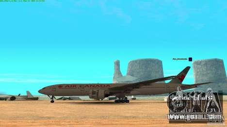 Boeing 777-200 Air Canada for GTA San Andreas left view