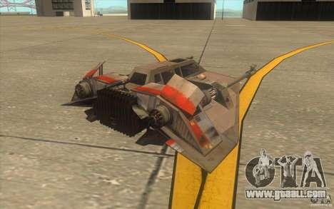 T-47 Snowspeeder for GTA San Andreas interior