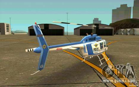 Bell 206 B Police texture1 for GTA San Andreas right view