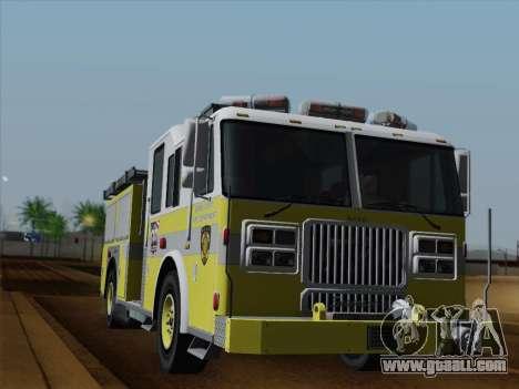 Seagrave Marauder II BCFD Engine 44 for GTA San Andreas interior