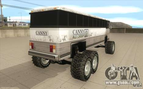 Bus monster [Beta] for GTA San Andreas back left view