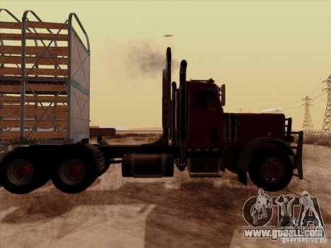Peterbilt 359 Day Cab for GTA San Andreas right view