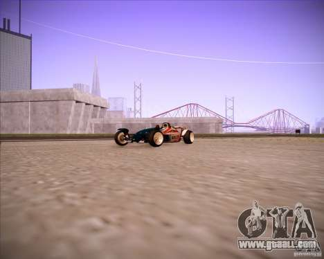 Track Mania Stadium Car for GTA San Andreas back left view