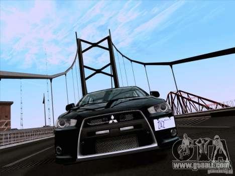 Mitsubishi Lancer Evolution X 2008 for GTA San Andreas left view