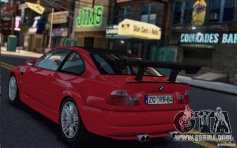 BMW M3 Street Version e46 for GTA 4 back left view