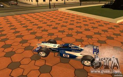 BMW F1 Williams for GTA San Andreas back left view