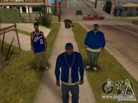 Piru Street Crips for GTA San Andreas