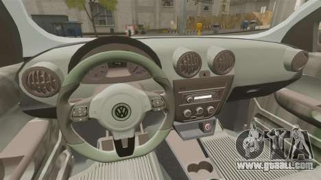 Volkswagen Saveiro Cross Edit for GTA 4 inner view
