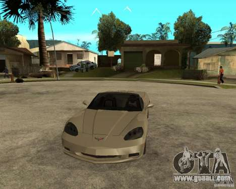 2005 Chevy Corvette C6 for GTA San Andreas back view