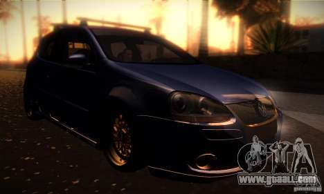 Volkswagen Golf Mk5 GTi for GTA San Andreas back view