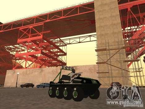 All-Terrain Vehicle Argo Avenger for GTA San Andreas left view