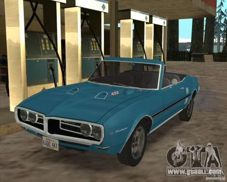 Pontiac Firebird Conversible 1966 for GTA San Andreas back view