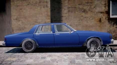 Chevrolet Impala 1983 [Final] for GTA 4 upper view