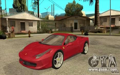 Ferrari F458 for GTA San Andreas