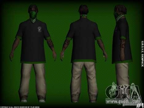 G.R.O.V.E. Skinpack for GTA San Andreas second screenshot
