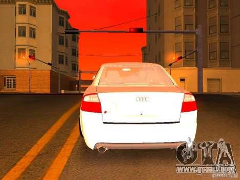 Audi S4 OEM for GTA San Andreas interior
