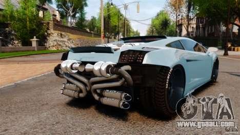 Lamborghini Gallardo Twin Turbo Kit for GTA 4 back left view