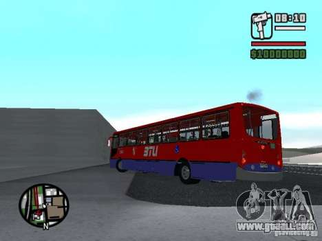 Busscar Urbanuss Pluss VW 17-230 EOD Alongado for GTA San Andreas back left view