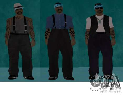 Skins bands HQ for GTA San Andreas second screenshot
