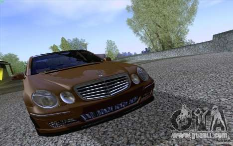 Mercedes-Benz E55 AMG for GTA San Andreas inner view