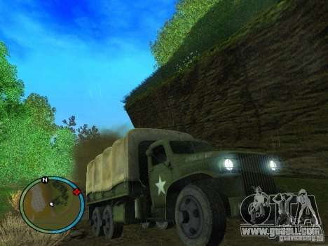 Millitary Truck from Mafia II for GTA San Andreas back view