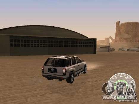 Chevrolet Trail Blazer for GTA San Andreas back left view