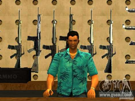 Tommy Vercetti in AMMU-NATION for GTA San Andreas second screenshot