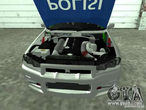 Nissan Skyline Indonesia Police for GTA San Andreas right view