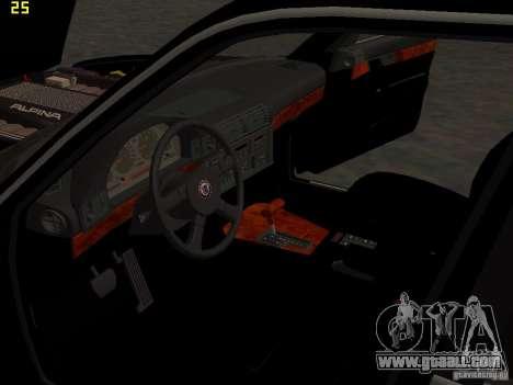 BMW E34 Alpina B10 Bi-Turbo for GTA San Andreas bottom view