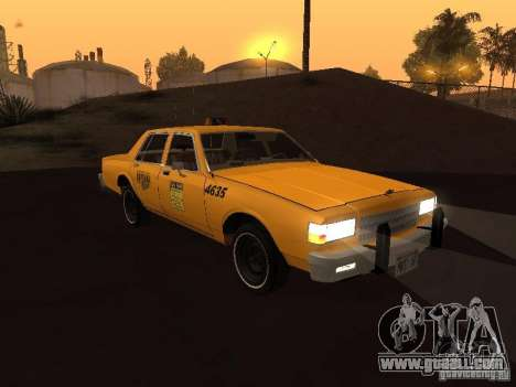 Chevrolet Caprice 1986 Taxi for GTA San Andreas