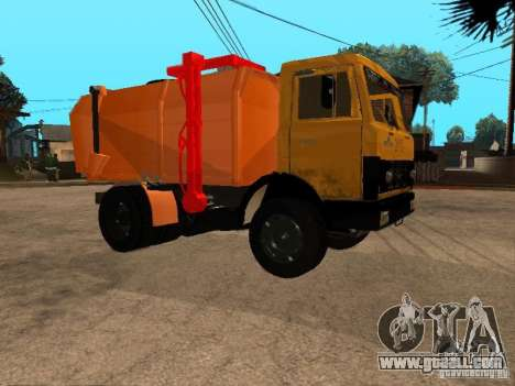 MAZ 54323 GARBAGE TRUCK for GTA San Andreas left view