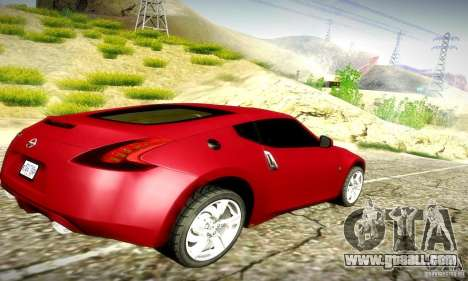 Nissan 370Z V2 for GTA San Andreas back view