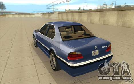 BMW 750iL 1995 for GTA San Andreas back left view