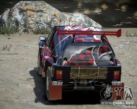 Mitsubishi Pajero Proto Dakar Vinyl 3 for GTA 4 side view