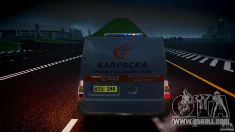 Ford Transit Usluga polski gazu [ELS] for GTA 4 interior