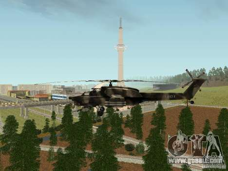 MI 28 HAVOC for GTA San Andreas right view