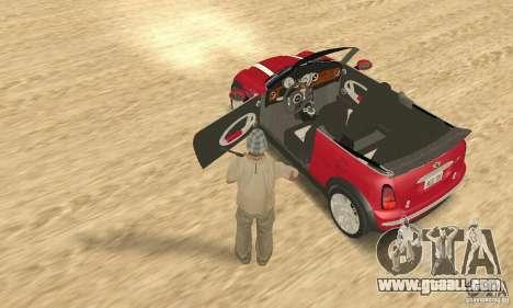 Mini Cooper Convertible for GTA San Andreas back view