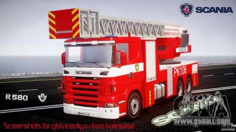 Scania R580 Fire ladder PK106 for GTA 4