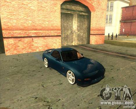Mazda RX 7 for GTA San Andreas left view